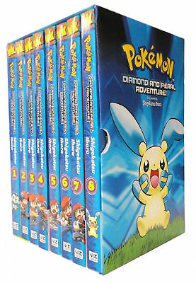 Pokemon Adventure Diamond and Pearl 8 Books Collection Box Set Pack NEW BRAND UK