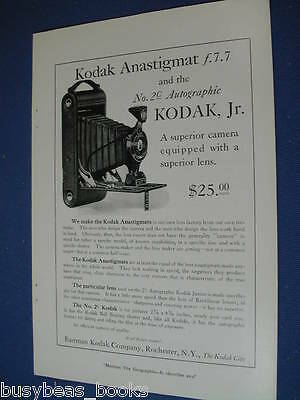 1921 Kodak camera advertisement, No. 2C autographic Kodak Jr