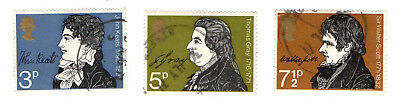 GB Stamps SG884-886 1971 Literary Anniversaries. Used