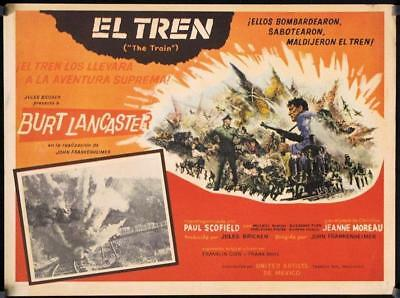 L558 THE TRAIN, original Mexican war movie Lobby card, Burt Lancaster, 1965