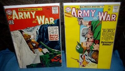 2 DC Our Army at  War Comic #120 1962 & #135 1963 See Scans