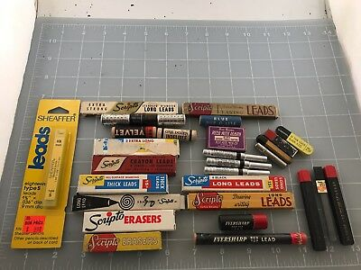 Judd's Big Lot of Vintage Pencil Leads & Erasers