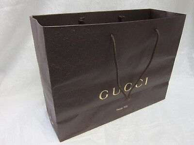 GUCCI EMPTY BIG GIFT BAG 18 x 14 x 6 WITH HANDLE MADE IN ITALY FIRENZE 1921 LOGO