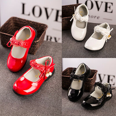 Toddler Baby Shoes Princess Children Kids Girl Dress Shoes Flats Wedding Party