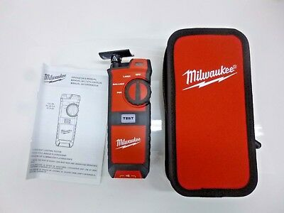 NEW!! MILWAUKEE FLUORESCENT LIGHTING TESTER, 2210-20 with CASE