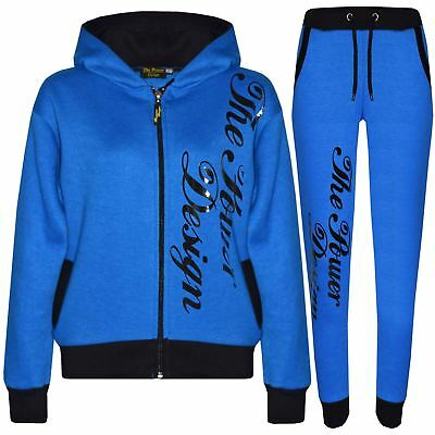 Kids Tracksuit Girls Boys Designer's The Power Design Top & Bottom Jogging Suit