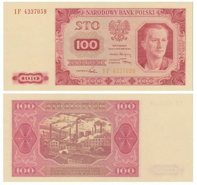 1oo Zlots Polish banknote issued in 1948 IF aunc