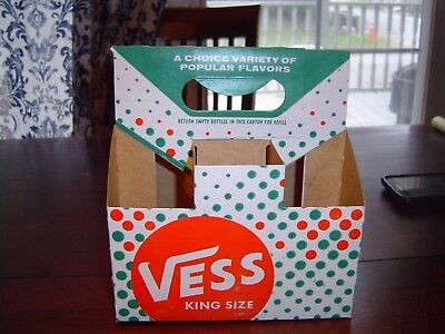 Nice Vess King Size 10 oz dotted cartons 6 pk bottle carton carriers
