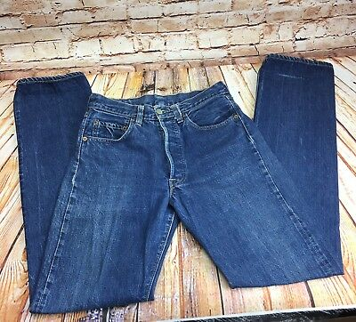 Vtg Levi's BIG E Men's 501 Denim Blue Jeans Selvedge Button Fly Red Tab Stamp 8