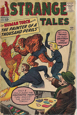 STRANGE TALES #108 (1963) Marvel Comics Fantastic Four VG+