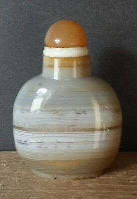 chinesische banded agate /achat Snuff Bottle,(kombiversand).