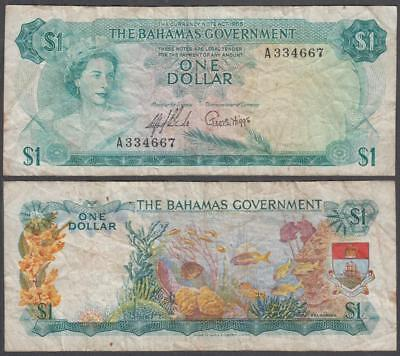 L. 1965 Bahamas Government Queen Elizabeth II 1 Dollar