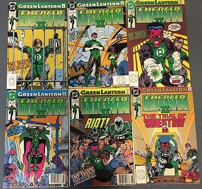 GREEN LANTERN EMERALD DAWN II set of (6) issues (1991) DC Comics FINE