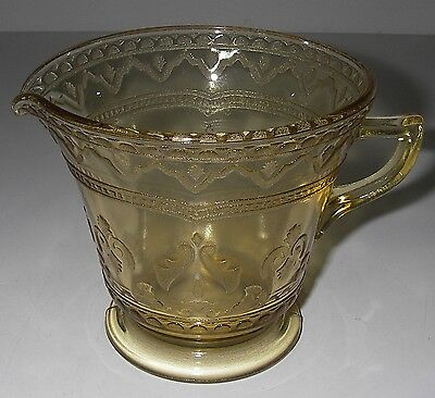 Federal Glass PATRICIAN/Spoke Amber Creamer footed Depression 1933-37