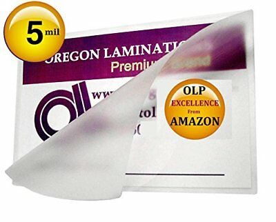 Qty 100 5x7 Photos Laminating Pouches 5-1/4 x 7-1/4 Hot Laminator Sleeves 5 Mil