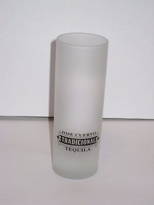"Jos Cuervo Tradicional Tequila Frosted Shot Glass Barware 4"" Tall Shooter HTF"