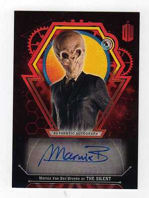 Doctor Who Extraterrestrial Encounters . Marnix . The Silent Auto Autograph #2/5
