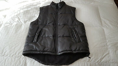 M Julian Wilson's 100% Leather Men's Vest  Sz. Medium  Black