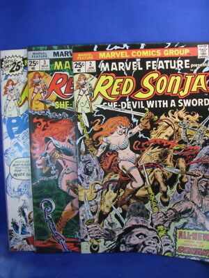 MARVEL FEATURE presents RED SONJA # 2, 3, 4- VG/F