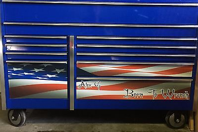 Snap on toolbox Decals American Flag Pirate Skull or Your own Picture