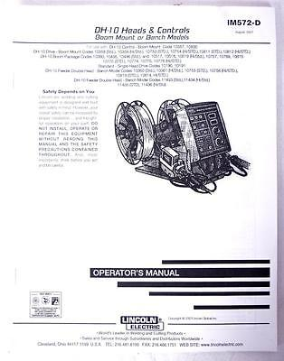 Lincoln Electric Operators Manual DH-10 Heads & Controls IM572-D