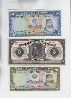 World Currency Collection  7 notes Uncirculated