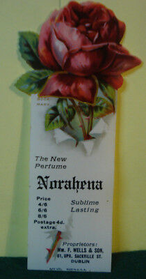 Celluloid Advertising Bookmark From Norahena The New Perfume Wells & Son Dublin