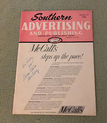 Vintage 1959 Southern Advertising & Publishing w Coca-Cola Article Billboard Ad