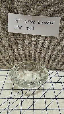 "4"" Round Clear Glass Snuffer Pub Ashtray Mexico Restaurant Barware Bar Cafe VTG"