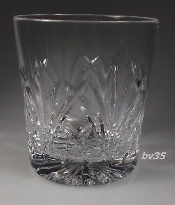 """WATERFORD BROOKSIDE marquis DOUBLE OLD FASHIONED GLASS  3 5/8"""" straight sided"""