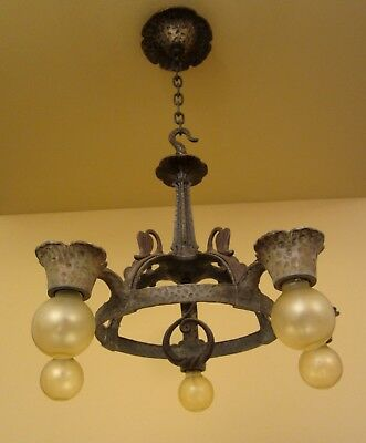 Vintage Lighting eight 1930s fixtures by Virden including sconces