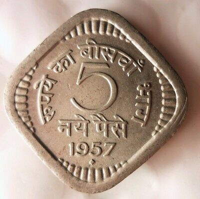 1957 INDIA 5 PAISA - High Quality Collectible  -FREE SHIPPING - India Bin #A