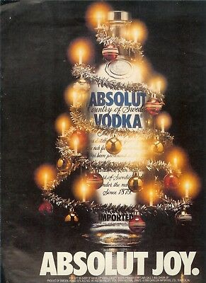 Absolut Joy 1988   Ad- One Page Original Ad    -Build A Lot All Ship Free
