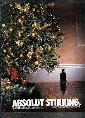 Absolut Stirring   Ad- One Page Original Ad    -Build A Lot All Ship Free