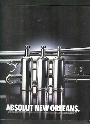 Absolut New Orleans Ad-One Page Original Ad    -Build A Lot All Ship Free