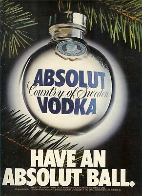 Absolut Have A Ball Ad-One Page Original Ad    -Build A Lot All Ship Free
