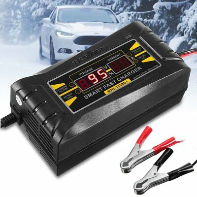 SON-1210D+ LCD Smart Fast Lead-acid Battery Charger 12V 10A For Car Motorcycle