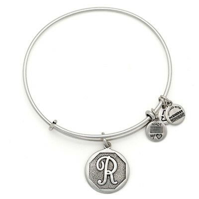 ALEX AND ANI Initial Alphabet Letter R Charm Bangle