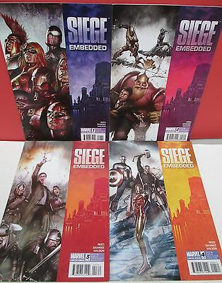 SIEGE EMBEDDED Complete Comic SET #1,2,3,4 VF/NM-2010 Marvel