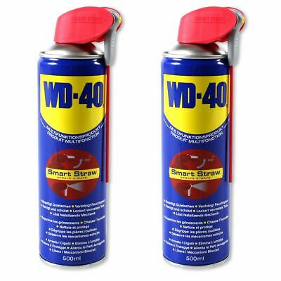 2x 500ml WD-40 Multifunktionsspray Multifunktionsöl SMART STRAW 41034