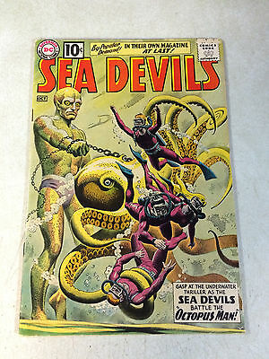 Sea Devils #1 Key Issue, Russ Heath, Octopus Man, Stunning Cover, 1961