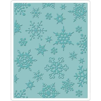 Sizzix Texture Fades Embossing Folders - Tim Holtz Alterations SIMPLE SNOWFLAKES