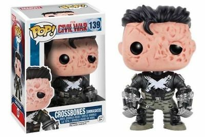 Funko Pop Neu & Ovp CAPTAIN AMERICA CROSSBONES UNMASKED (POP 139)