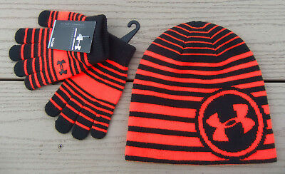 NWT UNDER ARMOUR 2pc Beanie Hat & Gloves Set Youth Boys/Girls-One Size @$30