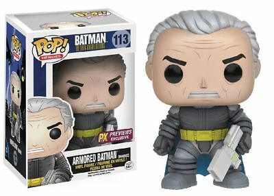 Funko Pop Neu & Ovp DC DKR ARMORED BATMAN UNMASKED EXC (POP 113)