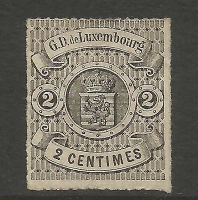 Luxembourg 1867 2C Rouletted  Mi 13, Mng (*)