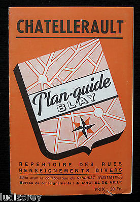 Chatellerault Plan 1950/60 ? Guide Blay Cartographie Poitou-Charentes Vienne 86