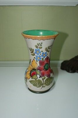 Ella Royal Zuid Holland Gouda Vase Hand Painted Art Pottery Antique Vintage Old