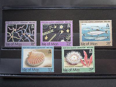 Isle Of Man Stamps Port Erin Marine Laboratory 1992 Set Of 5 Un Mounted Mint.