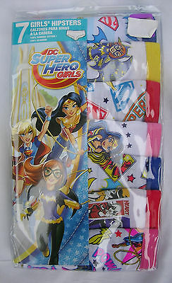 DC SUPER HERO GIRLS 7 Pr Pkg.GIRLS UNDERPANTS/HIPSTERS SIZE 8 NWT #8A
